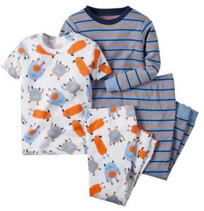 Carter's Baby Clothing Outfit Boys 4-Piece Snug Fit Cotton PJs Multi Monster Stripe