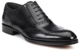 To Boot Duke Burnished Leather Brogue Lace-Up Shoes
