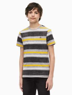 Calvin Klein boys striped crewneck t-shirt