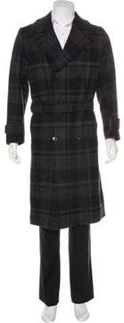 Louis Vuitton Plaid Wool Coat