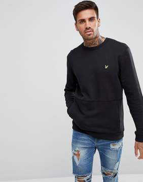 Lyle & Scott Sweatshirt With Front Pocket In Black