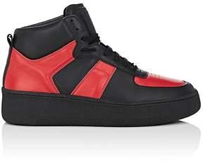 Maison Margiela Men's Thick-Sole Leather Sneakers
