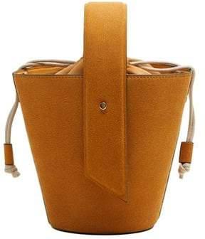 MANGO Leather bucket bag