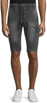 ProjekRaw PROJEK RAW Men's Belted Denim Drawstring Cargo Shorts