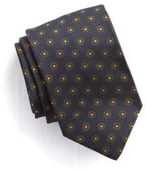Drakes Drake's Silk Circle Tie in Navy