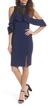 Adelyn Rae Women's Hadyn Cold Shoulder Sheath Dress