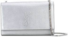 Saint Laurent Classic Medium Monogram satchel - GREY - STYLE