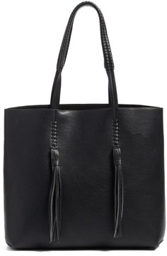 Chelsea28 Adriana Fringe Faux Leather Tote - Black