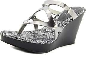 Thalia Sodi Luz Open Toe Synthetic Wedge Sandal.
