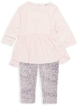 Splendid Baby's Two-Piece Hi-Lo Dress & Python-Print Leggings Set