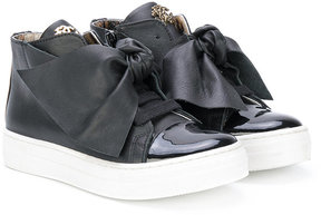 Roberto Cavalli teen bow embellished sneakers