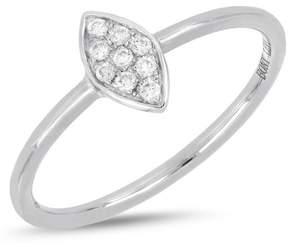 Bony Levy 18K White Gold Diamond Detail Marquise Ring