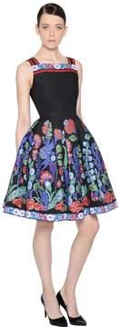 Andrew Gn Floral Jacquard & Fil Coupè Dress