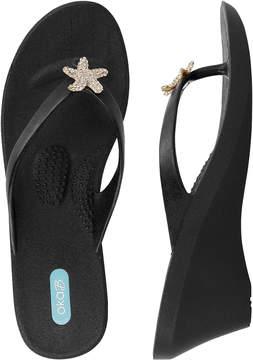 OKA b. Licorice Estee Wedge Sandal - Women