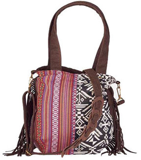 Women's San Diego Hat Company Ethnic Print Crossbody Tote BSB1545
