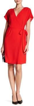 Bobeau Crepe Wrap Dress