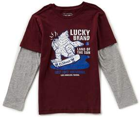 Lucky Brand Little Boys 2T-7 Land Of The Sun Two-Fer Tee