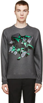 Christopher Kane Grey Embroidered Wallbreak Sweatshirt