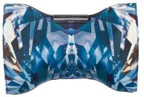 Alexander McQueen Crystal Print Squeeze It Clutch