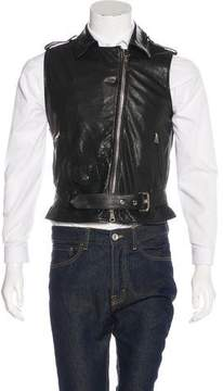 Amen Leather Moto Vest w/ Tags