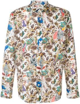 Etro tropical print long sleeve shirt
