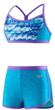 Speedo Girl's Two-Piece Rhythmic Tie-Dye Top and Boyshorts Set