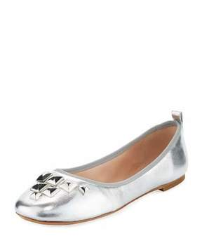 Marc Jacobs Cleo Studded Metallic Ballerina Flat
