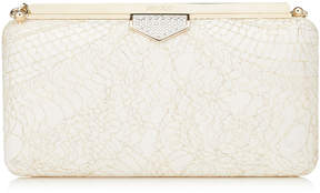 Jimmy Choo ELLIPSE Champagne Sparkly Lace Clutch Bag