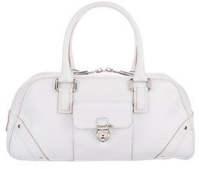 Burberry Grained Leather Handle Bag - WHITE - STYLE