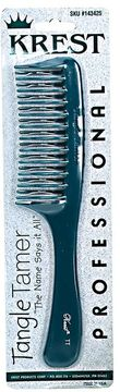 Krest Teal Tangle Tamer Curved Tooth Comb