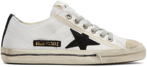 Golden Goose Deluxe Brand White V-Star 2 Sneakers