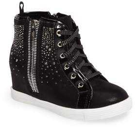 Stuart Weitzman Vance Double Embellished Concealed Wedge High Top