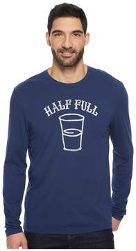 Life is Good Half Full Arc Long Sleeve Smooth Tee Men's Short Sleeve Pullover