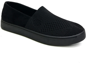 Bamboo Black Knit Grand Slam Slip-On Sneaker