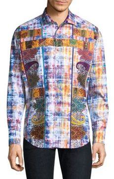 Robert Graham Sirmanator Cotton Casual Button-Down Shirt