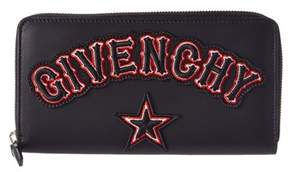 Givenchy Leather Zip Around Wallet.