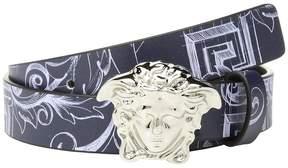 Versace Kids Printed Belt with Medusa Buckle Boy's Belts