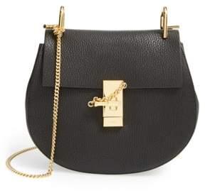 Chloe Drew Leather Shoulder Bag - Black
