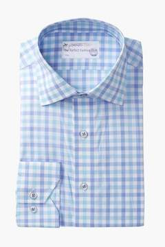 Lorenzo Uomo Large Check Trim Fit Dress Shirt