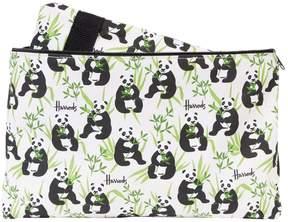 Harrods Panda Logo Overnight Bag and Pouch