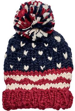 San Diego Hat Company Crochet Knit Americana Beanie KNH3453 (Women's)