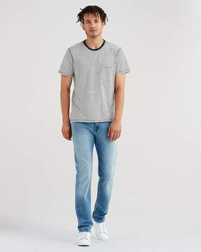 7 For All Mankind Luxe Sport Slimmy with Clean Pocket in Authentic Sonar