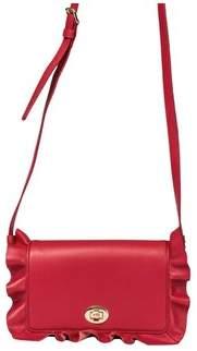 Borbonese Women's Red Leather Shoulder Bag.