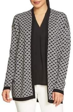 Chaus Novelty Jacquard Cotton Cardigan