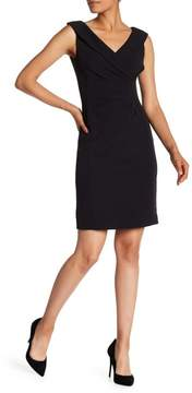 Tahari Sleeveless Crepe Sheath Dress