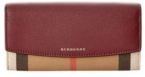 Burberry Porter House Check & Leather Continental Wallet. - MAHOGANY - STYLE