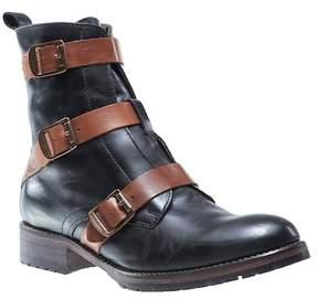 Wolverine Lizzie Waterproof Moto Buckle Leather Boot
