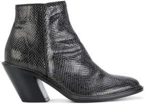 A.F.Vandevorst snake embossed ankle boots