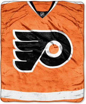 Northwest Company Philadelphia Flyers Raschel Stamp Throw Blanket
