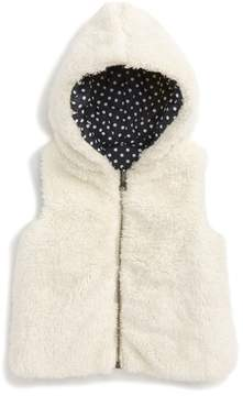 Tucker + Tate Infant Girl's Reversible Faux Fur Hooded Vest